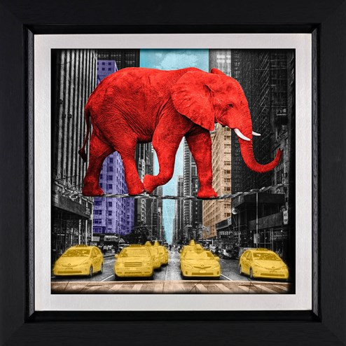 Crossing 5th Avenue by Lars Tunebo - Framed Paper On Board
